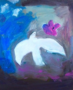 Purple poppy_dove 2