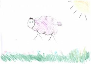 Drawing by Milly Jackson Aged 5
